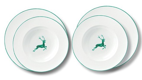 Gmundner Keramik Grüner Hirsch Dinner for two, Gourmet (STMG04SET)
