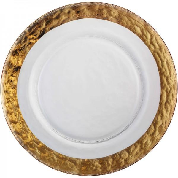 Eisch Servieren: Teller, Platten, Hauben Dessertteller, Colombo Gold (515/20,5) 20,5 cm