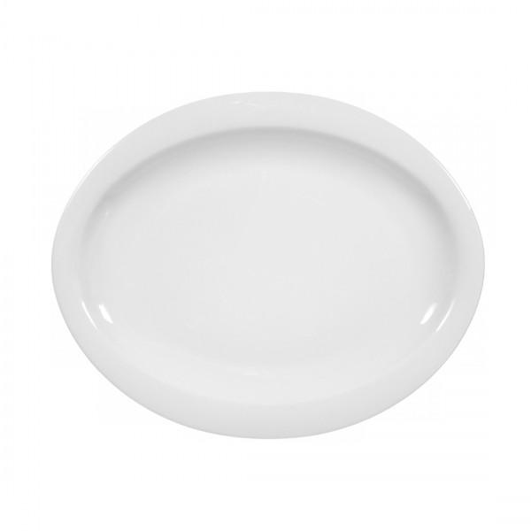 Seltmann Top Life uni weiß Frühstücksteller oval 25 cm