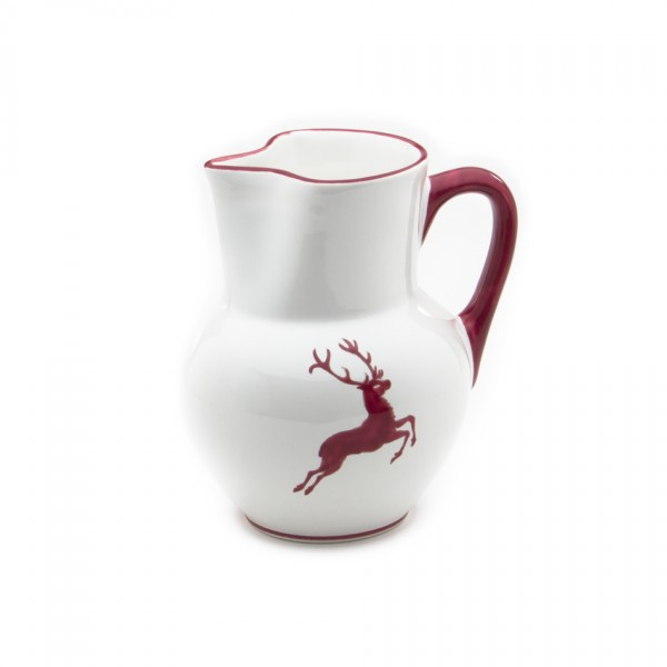 Gmundner Keramik Bordeauxroter Hirsch Krug Wiener Form (KRWF10) 1,5 l