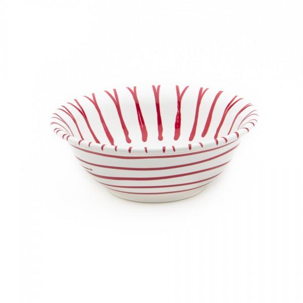 Gmundner Keramik Rotgeflammt Salatschüssel rund (SRSA20) 20 cm