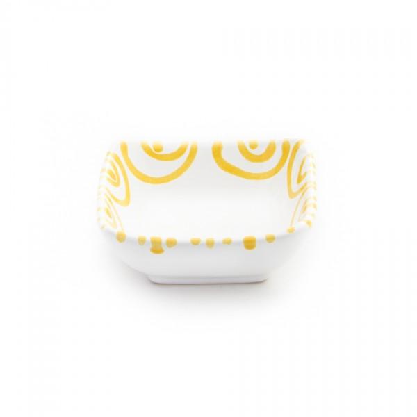 Gmundner Keramik Gelbgeflammt Schälchen quadratisch (SAQU09) 9cm