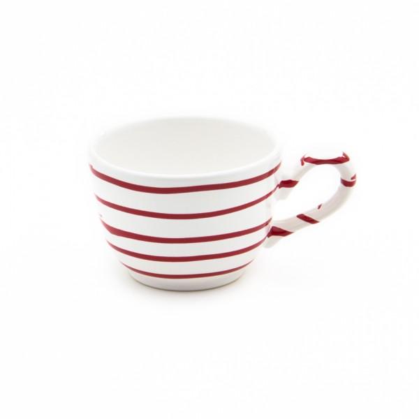 Gmundner Keramik Rotgeflammt Kaffee-Obertasse glatt classic (TKGL10)