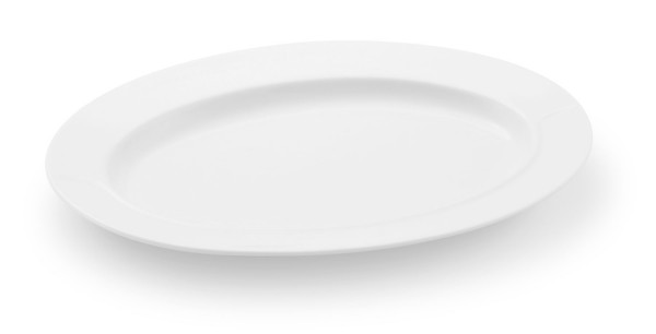 Friesland La Belle weiß Platte oval (1)/Saucieren-Unterteil 24 cm