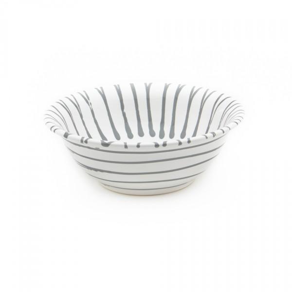 Gmundner Keramik Graugeflammt Salatschüssel rund classic (SRSA20) 20 cm