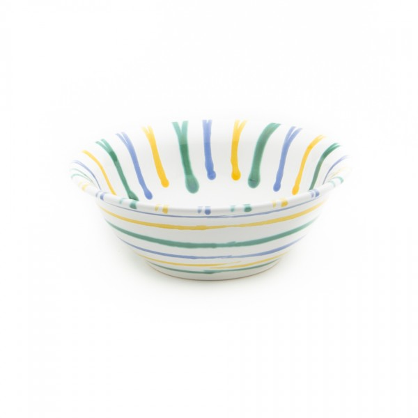 Gmundner Keramik Buntgeflammt Schüssel rund Salat SRSA20 20cm