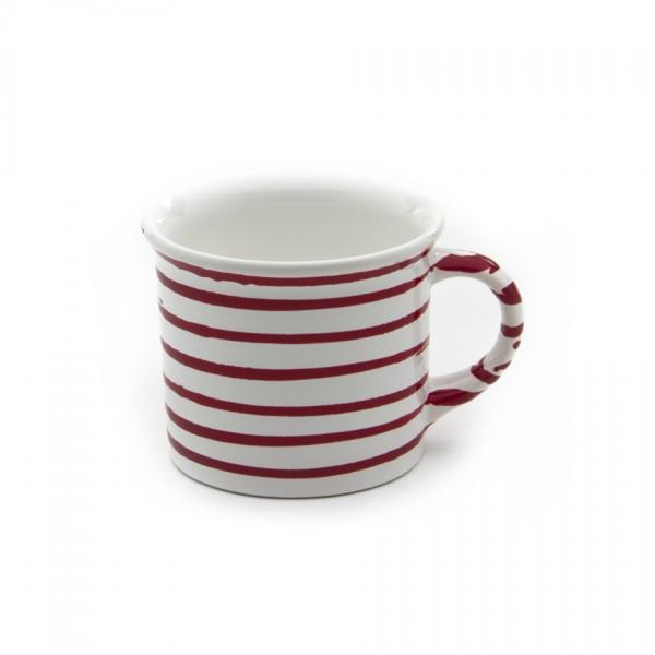 Gmundner Keramik Rotgeflammt Kaffehäferl glatt classic (HKGL09) 0,24 l