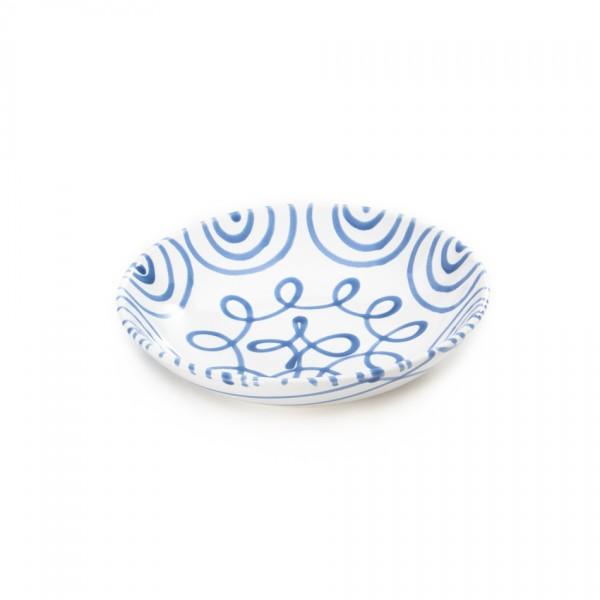 Gmundner Keramik Blaugeflammt Suppenteller Cup classic (TSCU20) 20 cm
