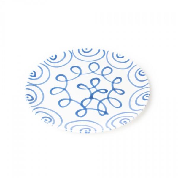Gmundner Keramik Blaugeflammt Speiseteller Cup classic (TFCU28) 28 cm