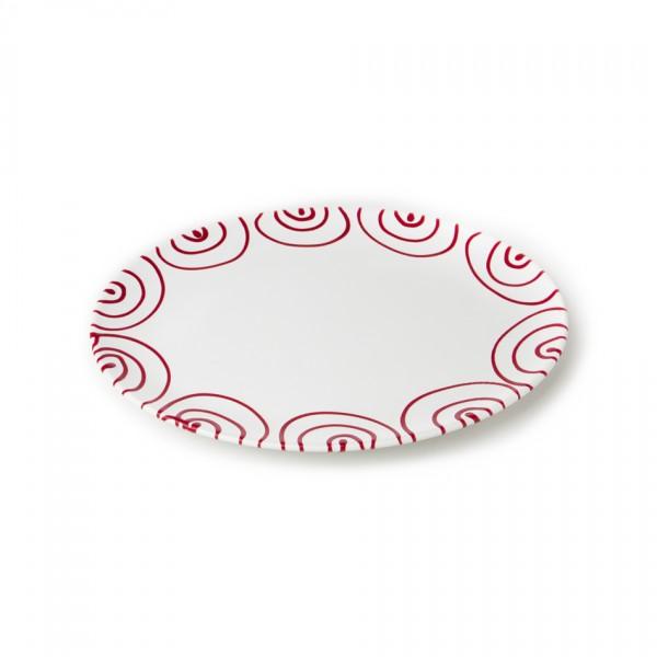 Gmundner Keramik Rotgeflammt Platte oval (POSE28) 28 x 21 cm