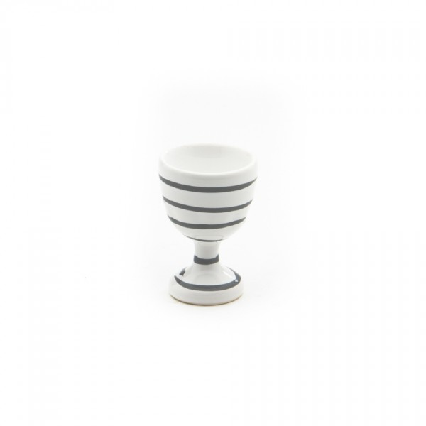 Gmundner Keramik Graugeflammt Eierbecher glatt classic m. Fuß (BEGL05) 6 cm
