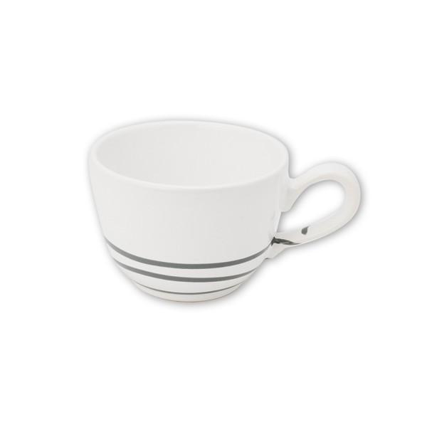 Gmundner Keramik Pur Geflammt Grau Kaffeetasse glatt TKGL10 0,19 l