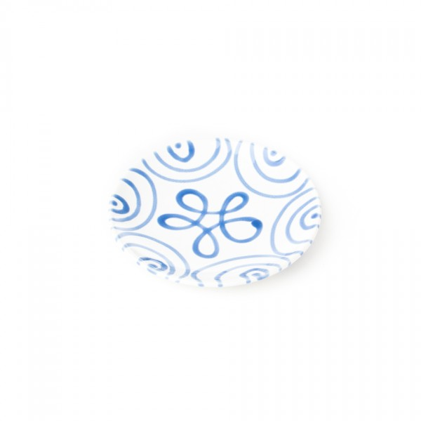 Gmundner Keramik Blaugeflammt Espresso-Untertasse glatt classic (TUGL11)
