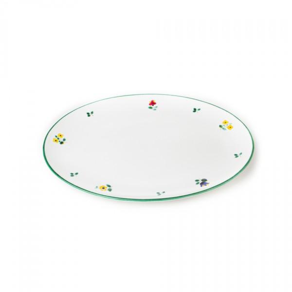 Gmundner Keramik Streublume Platte oval (POSE28) 28 x 21 cm