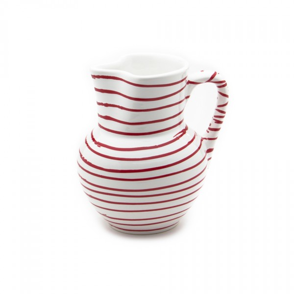 Gmundner Keramik Rotgeflammt Krug Wiener Form (KRWF09) 1 l