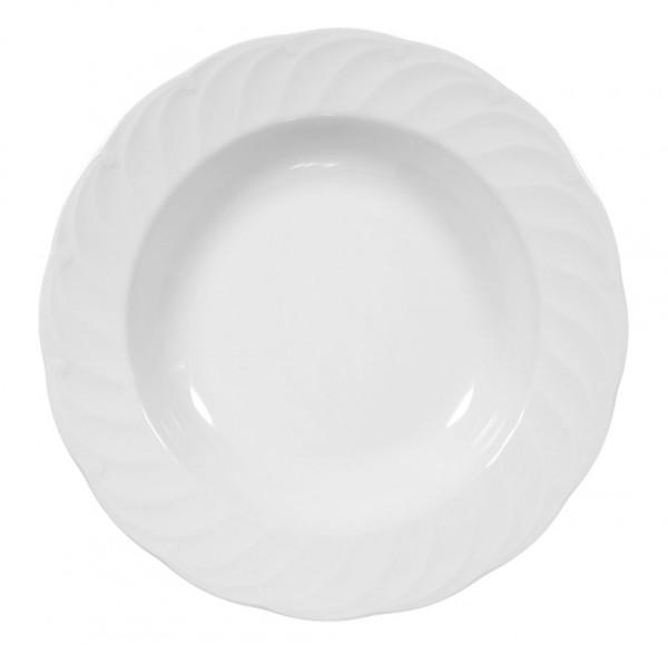 Seltmann Leonore weiß uni 7 Suppenteller 23 cm