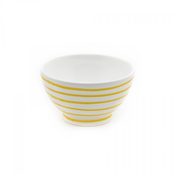 Gmundner Keramik Gelbgeflammt Müslischüssel classic (SAFR14) 14 cm