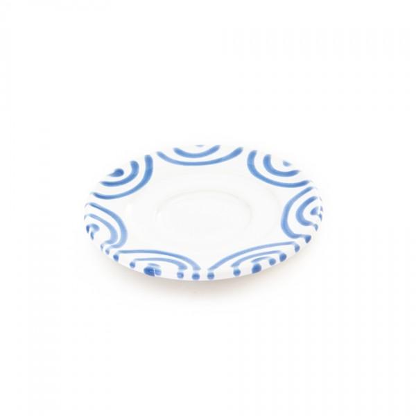 Gmundner Keramik Blaugeflammt Espresso-Untertasse Gourmet (TUGO11) 11 cm