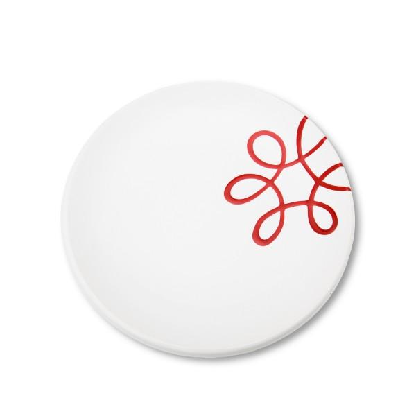 Gmundner Keramik Pur Geflammt Rot Dessertteller Cup TDCU20 20 cm