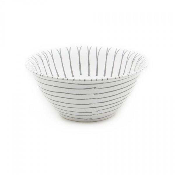Gmundner Keramik Graugeflammt Salatschüssel rund classic (SRSA33) 33 cm