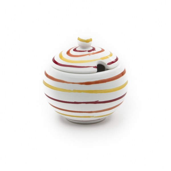 Gmundner Keramik Landlust Zuckerdose glatt m. Ausschnitt DAGL09 10cm