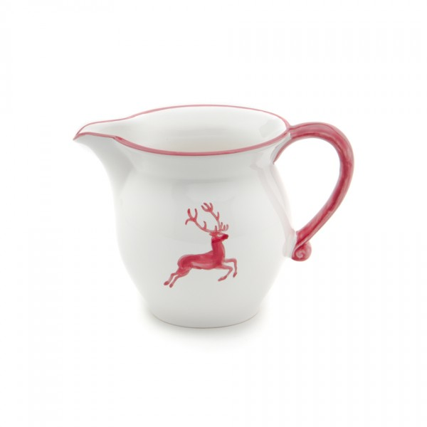 Gmundner Keramik Bordeauxroter Hirsch Gießer/Milch glatt (GMGL09) 1 l