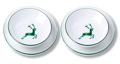 Gmundner Keramik Grüner Hirsch Dinner for two, classic (STMC04SET)