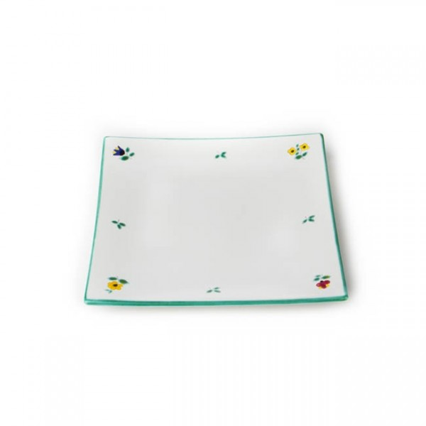 Gmundner Keramik Streublume Frühstücksteller eckig Trend (TDSE20) 20 x 20 cm