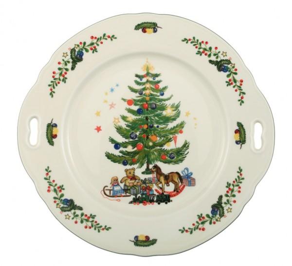 Seltmann Marie-Luise Weihnachten Kuchenplatte mit Griff 27 cm