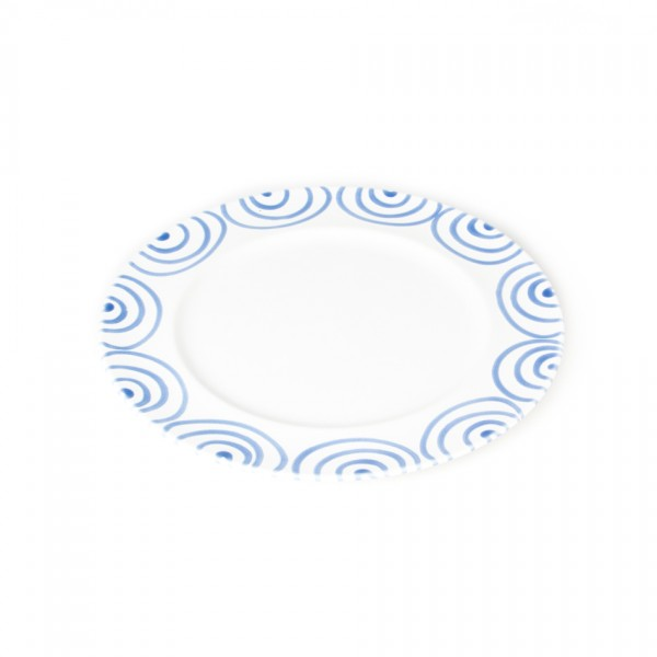 Gmundner Keramik Blaugeflammt Speiseteller m. Fahne Gourmet (TFGO29) 29 cm
