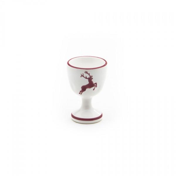 Gmundner Keramik Bordeauxroter Hirsch Eierbecher auf Fuß (BEGL05) 6 cm