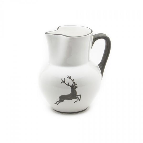 Gmundner Keramik Grauer Hirsch Krug Wiener Form (KRWF09) 1 l