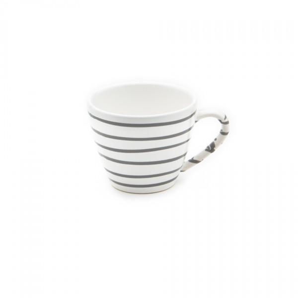 Gmundner Keramik Graugeflammt Kaffee-Obertasse Gourmet (TKGO09) 0,2 l