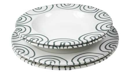 Gmundner Keramik Graugeflammt Dinner for two, Gourmet (STMG04SET)