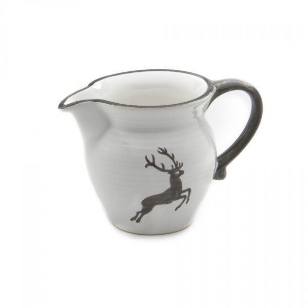 Gmundner Keramik Grauer Hirsch Gießer/Milch glatt (GMGL07) 0,5 l