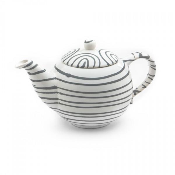 Gmundner Keramik Graugeflammt Teekanne glatt classic (KTGL10) 1,5 l
