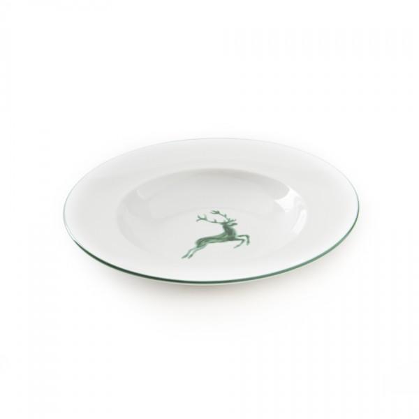 Gmundner Keramik Grüner Hirsch Gourmetteller /Pastateller (TEGO29) 29 cm