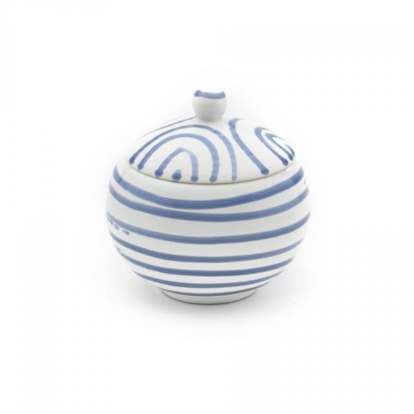 Gmundner Keramik Blaugeflammt Zuckerdose glatt classic (DZGL09) 10 cm