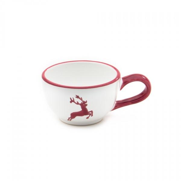 Gmundner Keramik Bordeauxroter Hirsch Espressoobertasse (TMGL07) 0,06 l