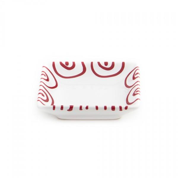 Gmundner Keramik Rotgeflammt Snack- Schale (SASN11) 11 x 11cm
