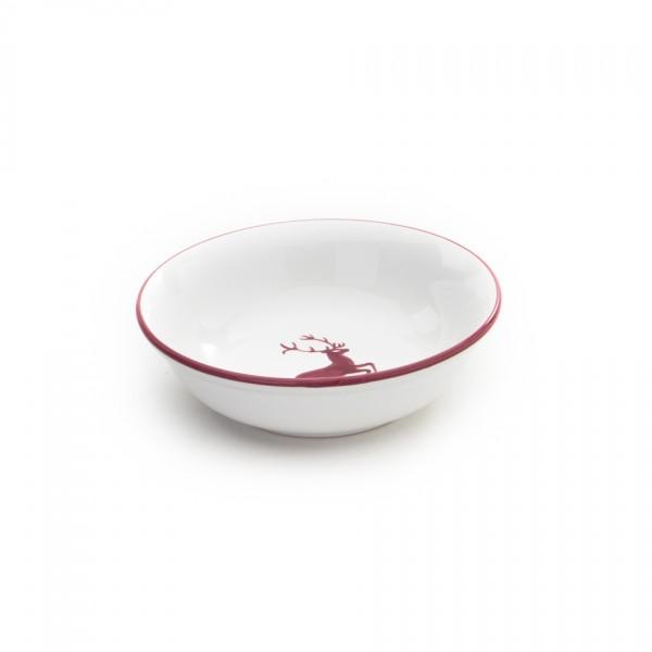 Gmundner Keramik Bordeauxroter Hirsch Kompottschale (SAKO14) 14 cm