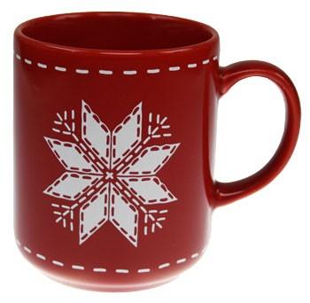 Friesland Happymix Winterzauber Becher mit Henkel Stern rot 0,28 l