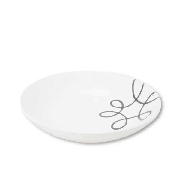 Gmundner Keramik Pur Geflammt Grau Suppenteller Cup TSCU20 20 cm