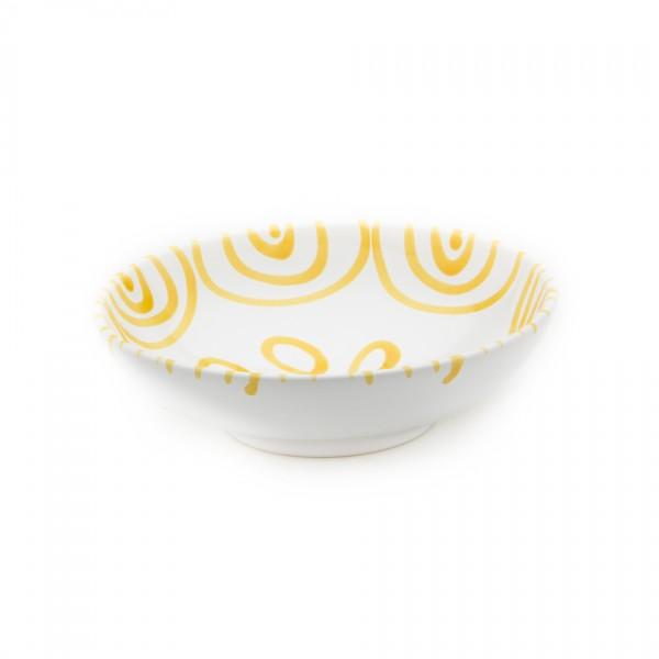 Gmundner Keramik Gelbgeflammt Salatschale (SASA17) 17 cm
