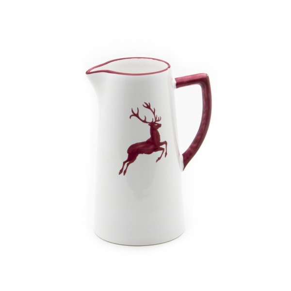 Gmundner Keramik Bordeauxroter Hirsch Wasserkrug (KRWA10) 1,2 l