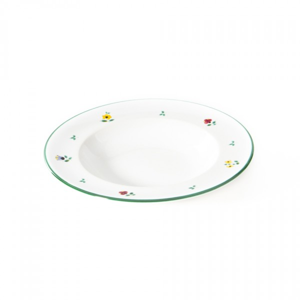 Gmundner Keramik Streublume Suppenteller m. Fahne Gourmet (TSGO24) 24 cm