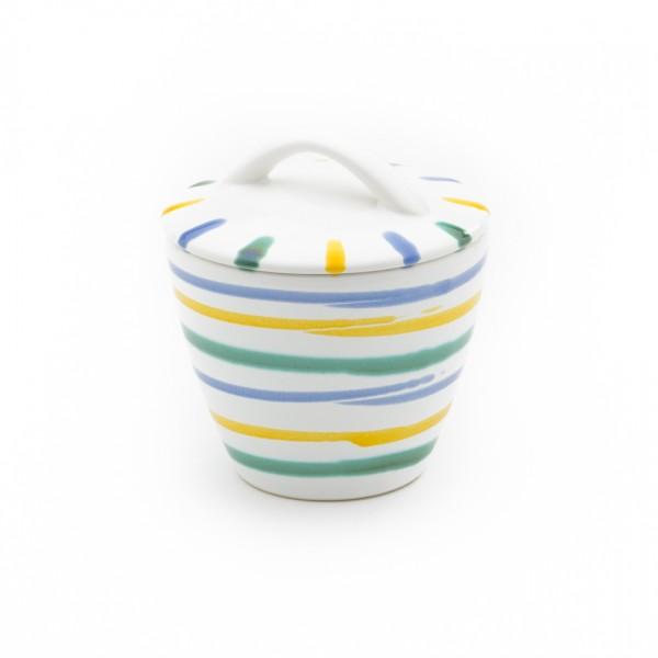 Gmundner Keramik Buntgeflammt Zuckerdose Gourmet DZGO09 9cm