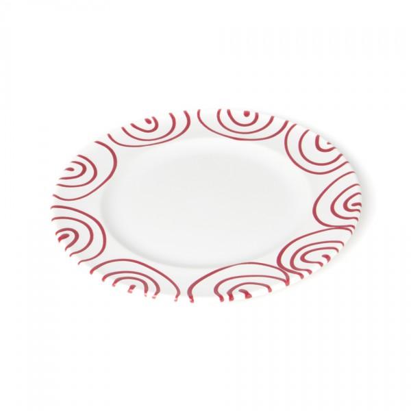 Gmundner Keramik Rotgeflammt Teller m. Fahne Gourmet (TDGO18) 18 cm