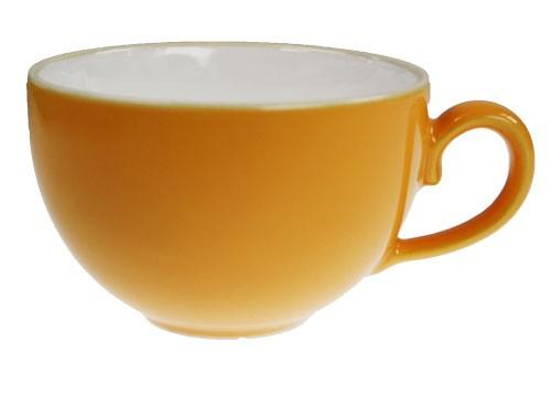 Friesland Happymix Safrangelb NEU-Kaffeeobere innen weiß 0,24 l