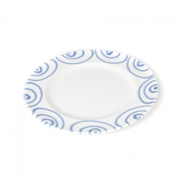 Gmundner Keramik Blaugeflammt Teller m. Fahne Gourmet (TDGO22) 22 cm